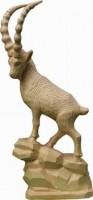 Vorschau: Steinbock, geschnitzt, 25 cm von Schnitzkunst aus dem Erzgebirge_Bild1