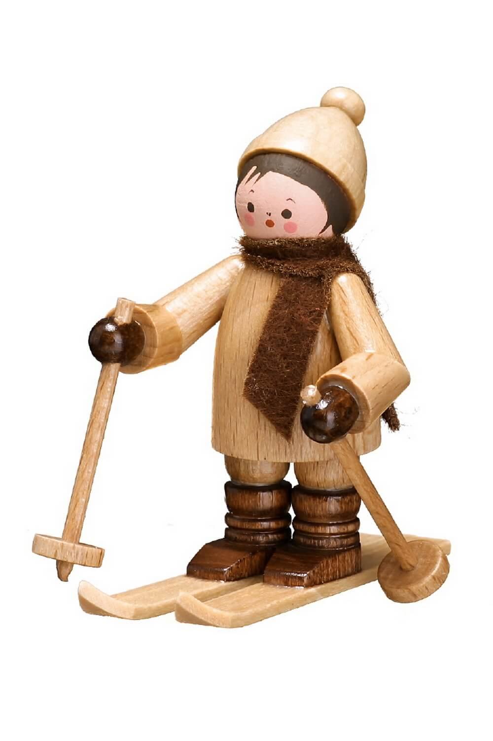 Der Skifahrer von Romy Thiel. Elegant und schwungvoll, gleitet dieser liebvoll gearbeitete Skifahrer in natur von Romy Thiel Deutschneudorf/ Erzgebirge, den …