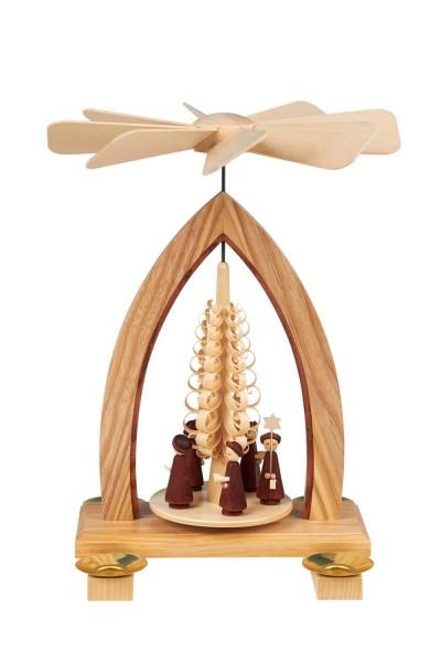Weihnachtspyramide mit Kurrende, 26 cm hergestellt von Heinz Lorenz Olbernhau/ Erzgebirge_Bild1