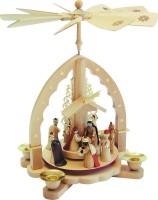 Vorschau: Weihnachtspyramide von Richard Glässer Heilige Familie, 27 cm_Bild2