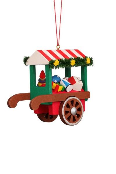 Baumbehang &Christbaumschmuck Marktwagen mit Spielzeug, 6 Stück, 8 x 7 cm von Christian Ulbricht GmbH & Co. KG Seiffen/ Erzgebirge