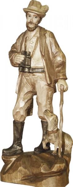 Förster mit Stecken, gebeizt, geschnitzt, in verschiedenen Größen