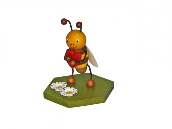 Biene mit Herz, 8 cm von Volker Zenker aus Seiffen