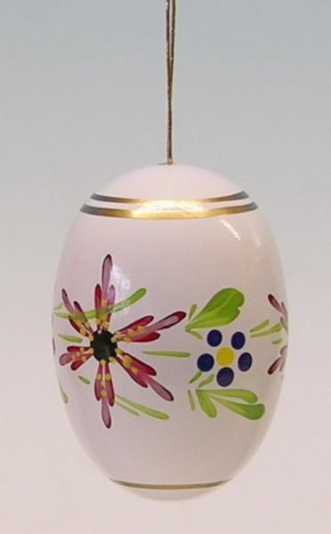 Osterei weiß mit Blumen von Frieder & André Uhlig