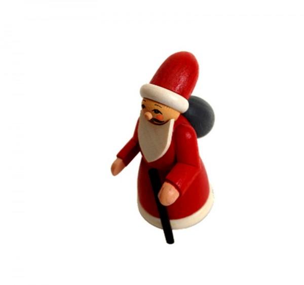Weihnachtsmann, bunt, 6 cm, Spielwarenmacher Günther Seiffen/ Erzgebirge