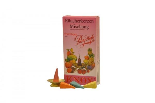 Räucherkerzen - Partyduft, fruchtig, 24 Stück pro Packung von KNOX - Apotheker Hermann Zwetz
