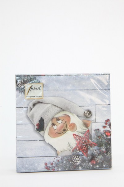 Weihnachtsservietten mit Nordpol Santa Motiv, 20 Stück, Christian Ulbricht GmbH & Co. KG Seiffen/ Erzgebirge