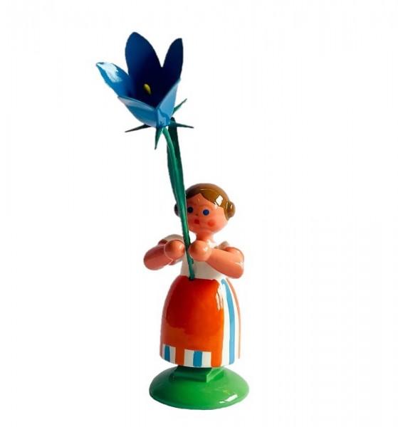 WEHA-Kunst, Blumenkind Mädchen mit Glockenblume_Bild1