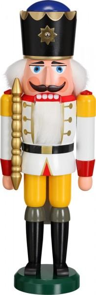 Darf ich vorstellen, Ihre Majestät Nussknacker König in weiß, 38 cm von Seiffener Volkskunst eG Seiffen/ Erzgebirge. Dienten früher die Nussknacker oder auch …