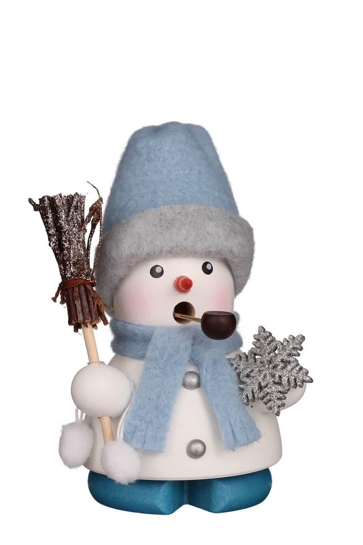 Räuchermännchen Schneemann Frosty, 9 cm von Christian Ulbricht GmbH & Co KG Seiffen/ Erzgebirge