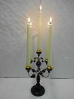 Vorschau: Leuchter, 5- armig nussbraunohne Kerzen, 28 cm hoch, Nestler-Seiffen.com OHG Seiffen/ Erzgebirge