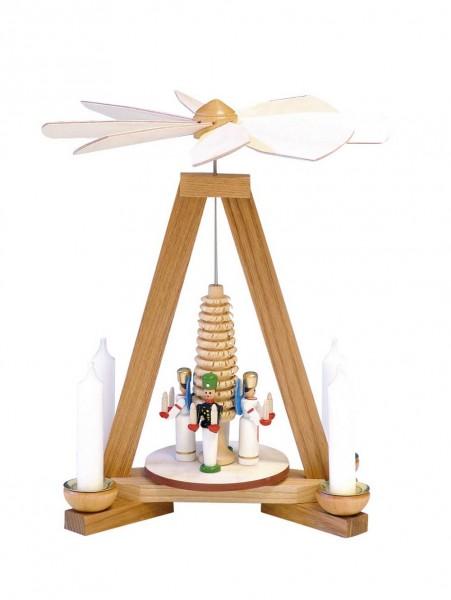 Knuth Neuber, Weihnachtspyramide Engel und Bergmann, 23 cm_Bild1