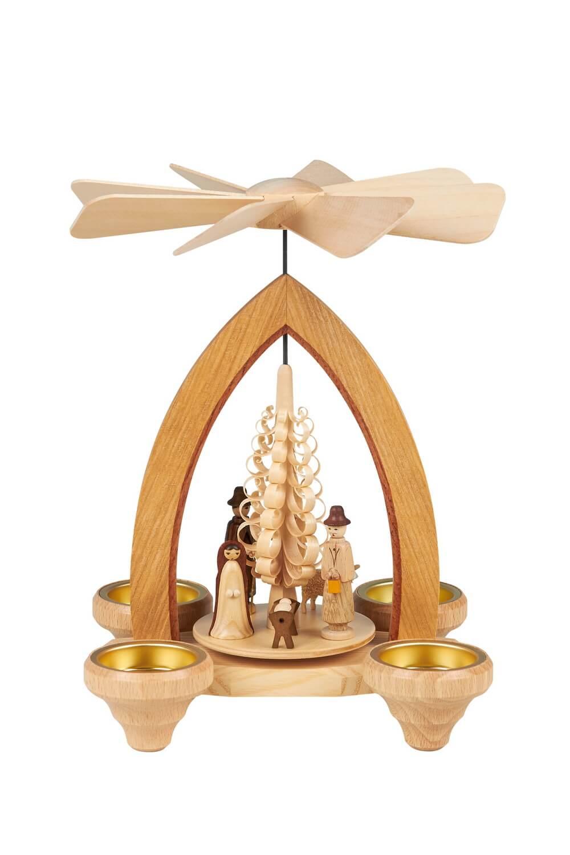 Weihnachtspyramide Christi Geburt, 26 cm hergestellt von Heinz Lorenz_Bild1