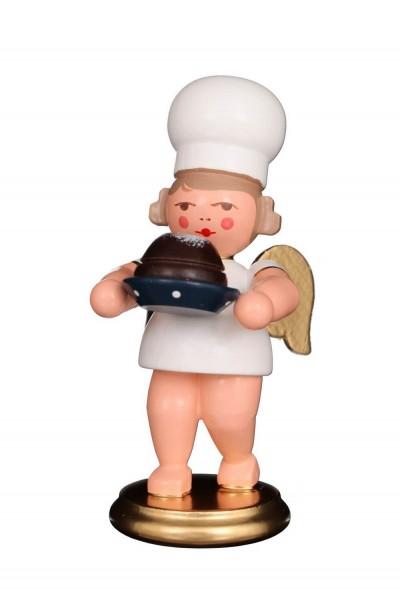 Weihnachtsengel - Bäckerengel mit Napfkuchen, 8 cm von Christian Ulbricht GmbH & Co KG Seiffen/ Erzgebirge