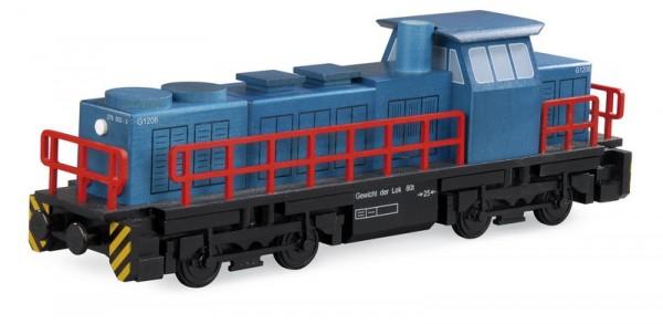 Räuchermännchen Diesellokomotive im Maßstab 1:60, Holzmodell für Räucherkerzen, 25 x 12 x 7 cm von Müller GmbH Kleinkunst aus dem Erzgebirge