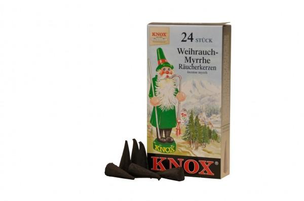 Räucherkerzen - Weihrauch-Myrrhe von KNOX, 24 Stück