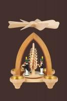 Vorschau: Weihnachtspyramide mit Bergleuten, 26 cm hergestellt von Heinz Lorenz_Bild2