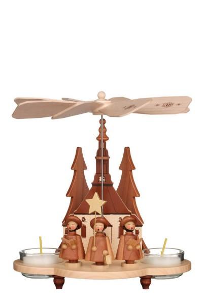 Weihnachtspyramide Kurrende, natur, 20 cm von Christian Ulbricht GmbH & Co KG Seiffen/ Erzgebirge