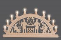 Vorschau: LED Schwibbogen von Nestler-Seiffen mit Schwarzenberger Motiv und 10 Spitzkerzen _Bild3
