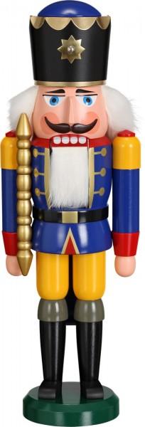 Darf ich vorstellen, Ihre Majestät Nussknacker König in blau, 38 cm von Seiffener Volkskunst eG Seiffen/ Erzgebirge. Dienten früher die Nussknacker oder auch …