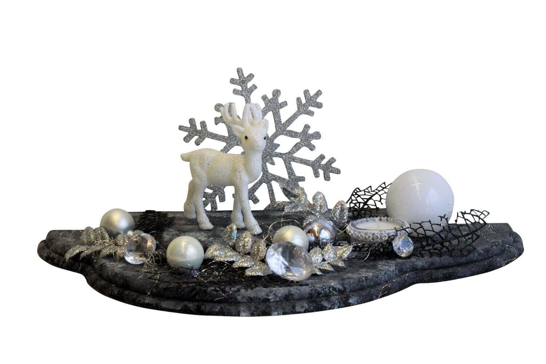 Unikat, Wolke besttückt, schwarz marmoriert von Nestler-Seiffen