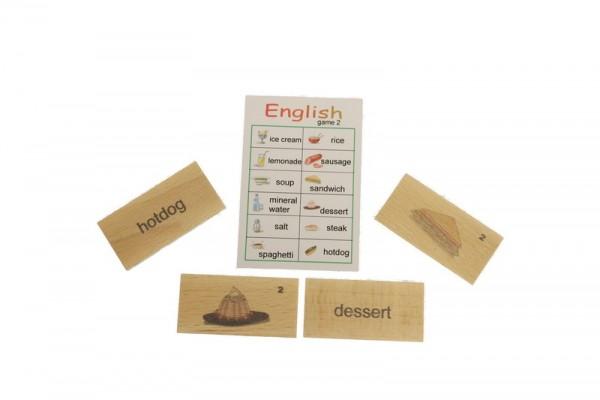 Englischspiel mit 24 Einzelspielen, 42 x 22 x 5 cm, Spielalter ab 3 Jahre, Erzgebirgische Holzspielwaren Ebert GmbH Olbernhau/ Erzgebirge