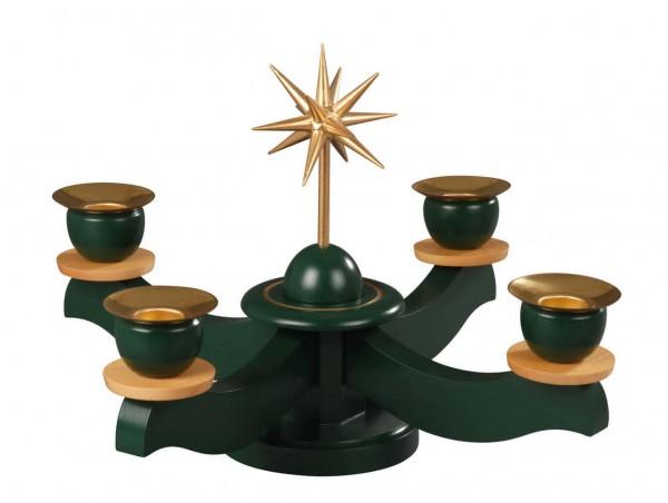 Adventsleuchter mit Weihnachtsstern, grün hergestellt von Albin Preißler