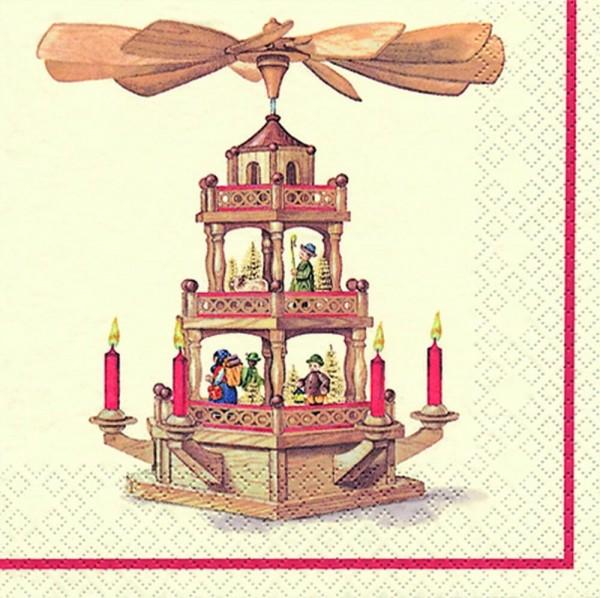 Weihnachtsservietten Pyramide von Home Fashion®