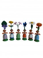 Vorschau: Blumenkinder von WEHA-Kunst als Feld- und Wiesenblumenmädchen, 6 Stück_Bild2