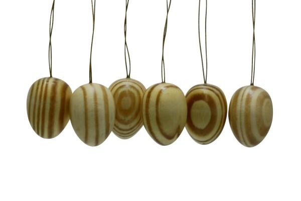 Ostereier von Nestler-Seiffen, natur, 6 Stück
