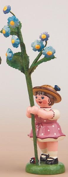 Blumenkinder - Blumenkind Mädchen mit Vergissmeinnicht, 11 cm von Hubrig Volkskunst GmbH Zschorlau/ Erzgebirge