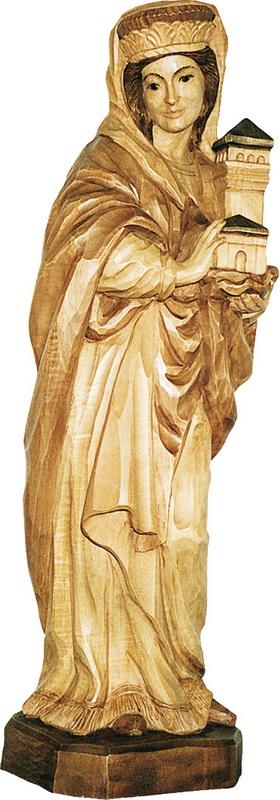 Heilige Barbara, geschnitzt in verschiedenen Größen von Schnitzkunst aus dem Erzgebirge_Bild1