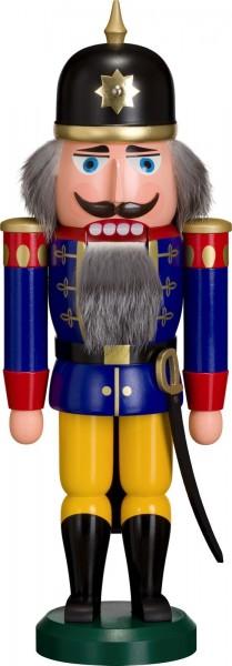 Achtung und still gestanden, es erscheint der Nussknacker Soldat in blau, 38 cm von Seiffener Volkskunst eG Seiffen/ Erzgebirge. Dienten früher die …