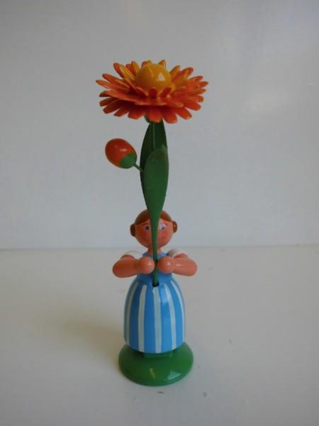 Feld- und Wiesenblumenmädchen mit Ringelblume von WEHA-Kunst