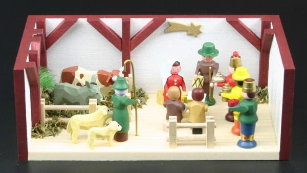 Miniaturstübchen Krippenstube von Gunter Flath aus Seiffen / Erzgebirge Traditionell detailgetreue Nachbildung einer Krippenstube aus früheren Zeiten. Hier …