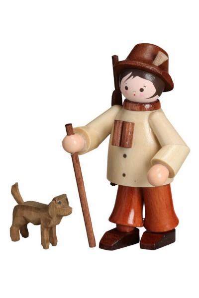 Der Jäger mit seinem Hund, in natur von Romy Thiel Deutschneudorf/ Erzgebirge, ist schon bereit. Mit Wanderstock und Fernglas ist er betens ausgerüstet für …