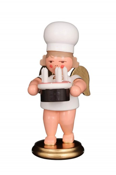 Weihnachtsengel - Bäckerengel mit Torte, 8 cm von Christian Ulbricht GmbH & Co KG Seiffen/ Erzgebirge