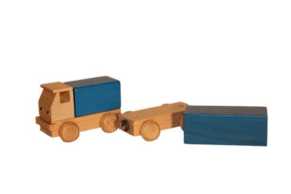 Holzauto Lastzug, farbig von Ebert GmbH