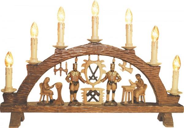 Schwibbogen, geschnitzte Figuren, 83 cm, elektrisch beleuchtet (230 V)