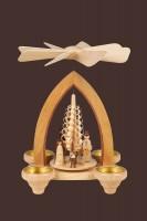 Vorschau: Weihnachtspyramide Christi Geburt, 26 cm hergestellt von Heinz Lorenz_Bild2