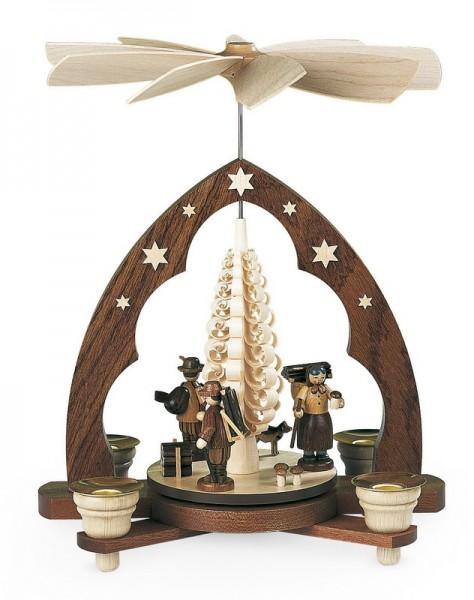 Weihnachtspyramide Waldleute, natur, 22 x 15 x 28 cm, Müller GmbH Kleinkunst aus dem Erzgebirge