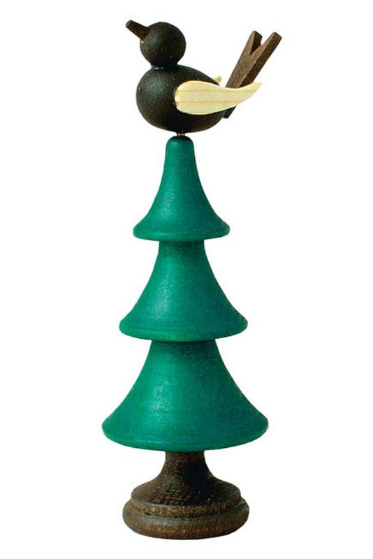 Dieses originelle Spielzeug, ist ein traditionelles Produkt aus dem Erzgebirge. Dreht man an dem Baumstumpf, so bewegt sich der Vogel auf der Spitze des …