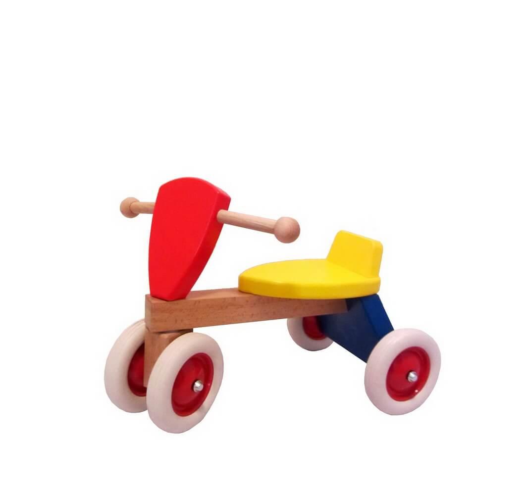 Der niedliche Rutscher Charly, bittet kleine Flitzer um einen Ausflug! Das Laufrad aus einheimischen Hölzern ist hochwertig gearbeitet, bunt und klar …