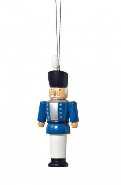 KWO Christbaumschmuck Nussknacker, blau zum Hängen für Ihren Weihnachtsbaum