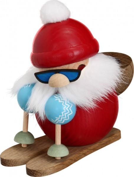 coole Räucherfigur Nikolaus auf Skier