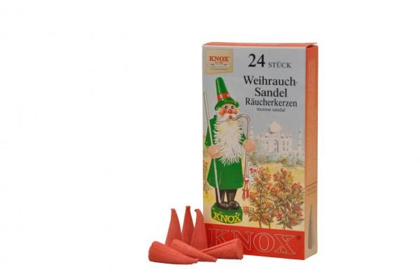 Räucherkerzen - Weihrauch-Sandel, 24 Stück von KNOX