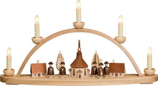 klassischer Schwibbogen mit Motiv Seiffener Dorf