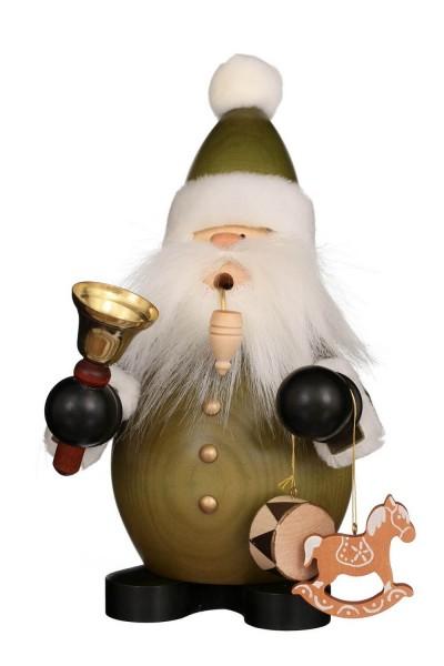 Räuchermännchen Weihnachtsmann, grün, 22 cm von Christian UlbrichtGmbH & Co KG Seiffen/ Erzgebirge