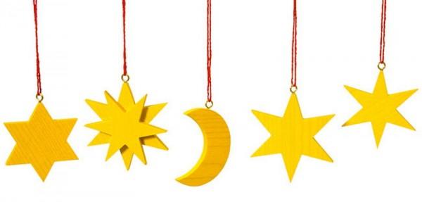 Christbaumschmuck - Baumbehang Mond und Sterne von Robbi Weber aus dem erzgebirge