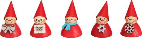 Weihnachts- Wippelfiguren, farbig von Seiffener Volkskunst